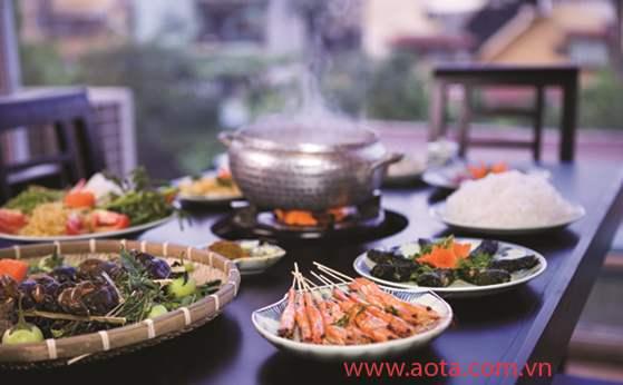 Một trong những món ăn vô cùng thanh đạm và dân dã tại nhà hàng Ao Ta