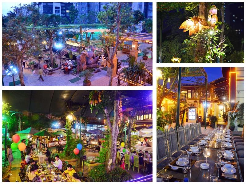 Không gian vô cùng rộng rãi của nhà hàng Lã Vọng