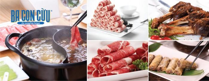 Lẩu cừu non Mông cổ là món ăn chủ đạo ở Nhà hàng Ba con cừu