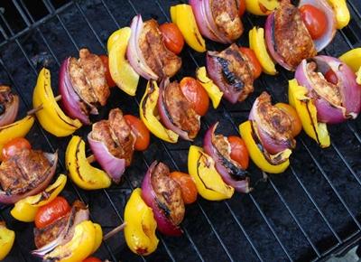 Món gà kabob kiểu Maroc