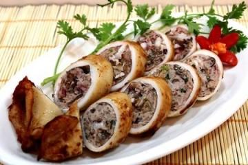 Bí quyết làm mực nhồi thịt nướng cực ngon với lò nướng bánh mì