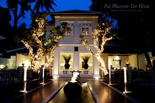Không gian sang trọng bậc nhất của nhà hàng Au Manoir De Khai