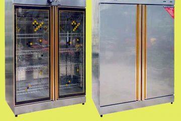 Tủ sấy bát công nghiệp 2 cánh–Thiết bị vệ sinh bát đĩa dành cho bếp ăn lớn